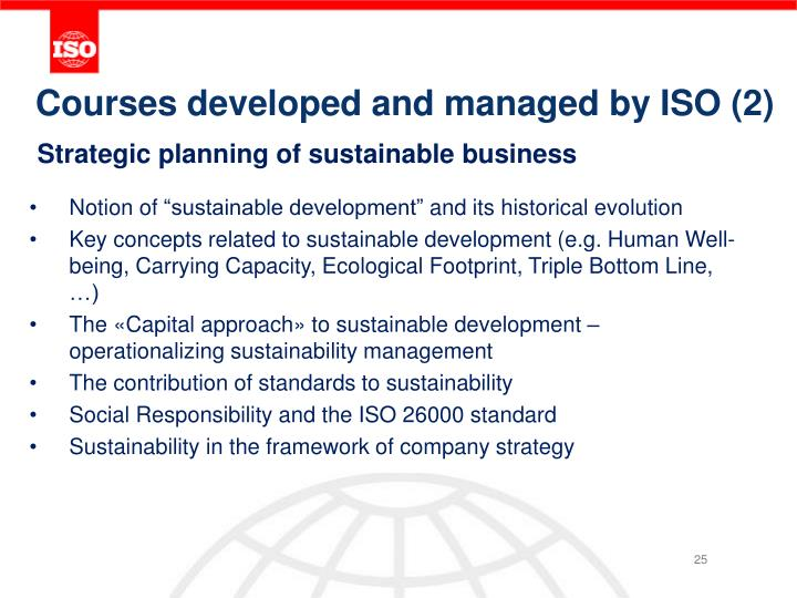 Courses developed and managed by ISO (2)