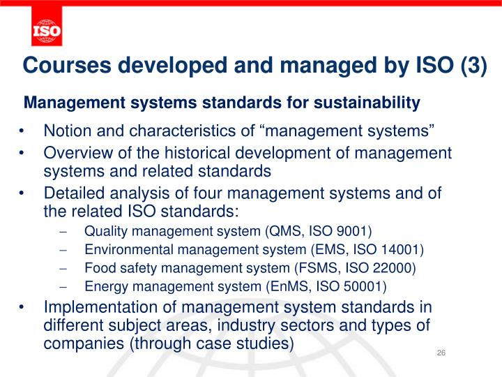 Courses developed and managed by ISO (3)