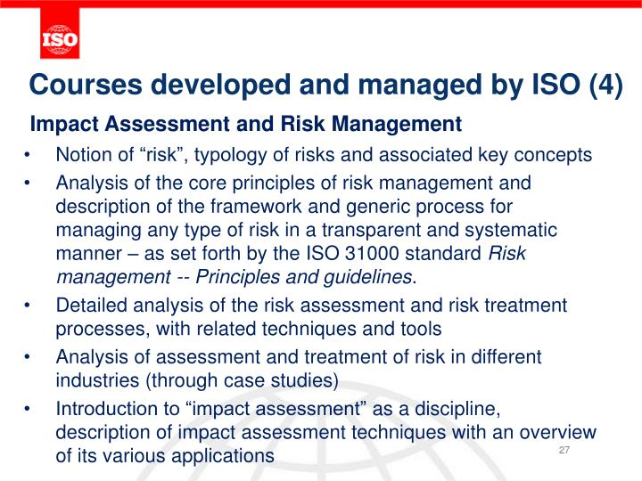 Courses developed and managed by ISO (4)