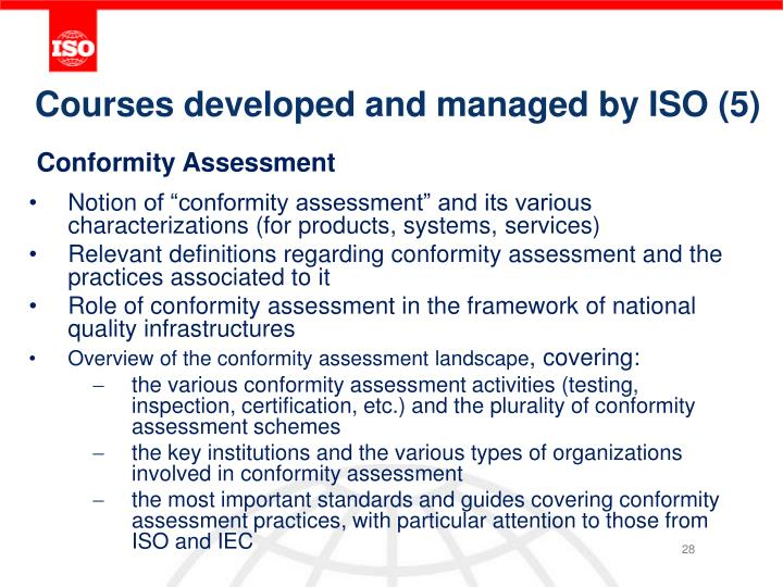 Courses developed and managed by ISO (5)