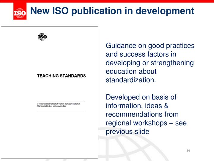 New ISO publication in