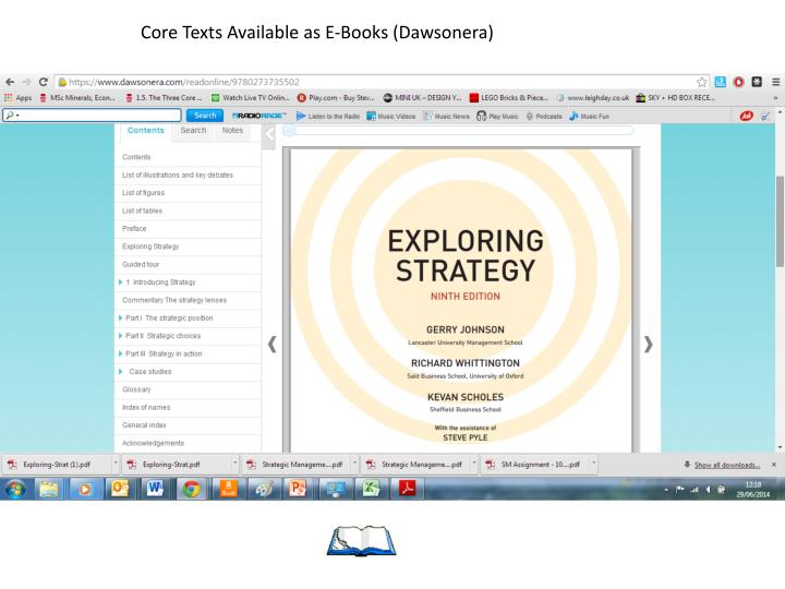 Core Texts Available as E-Books (