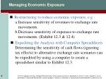 managing economic exposure1