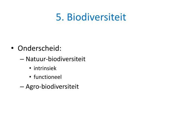 5. Biodiversiteit