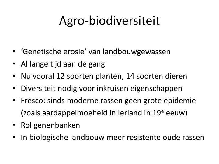 Agro-biodiversiteit