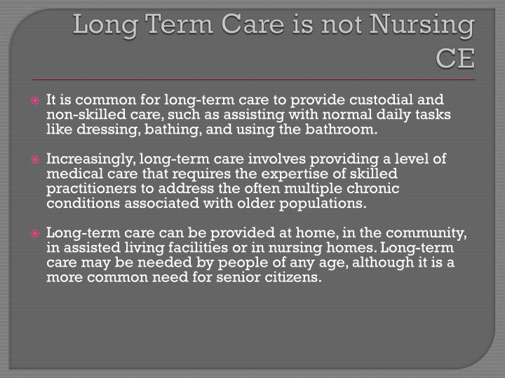 nursing essays on long term confditions What the government's doing about long term health conditions.