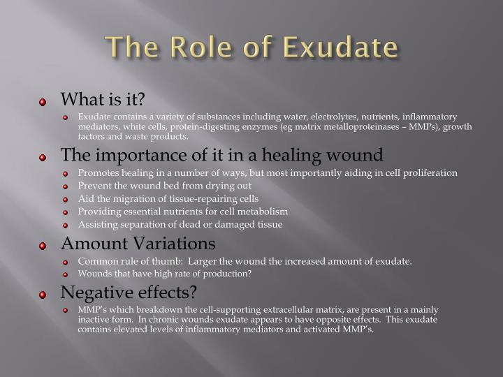 The Role of Exudate
