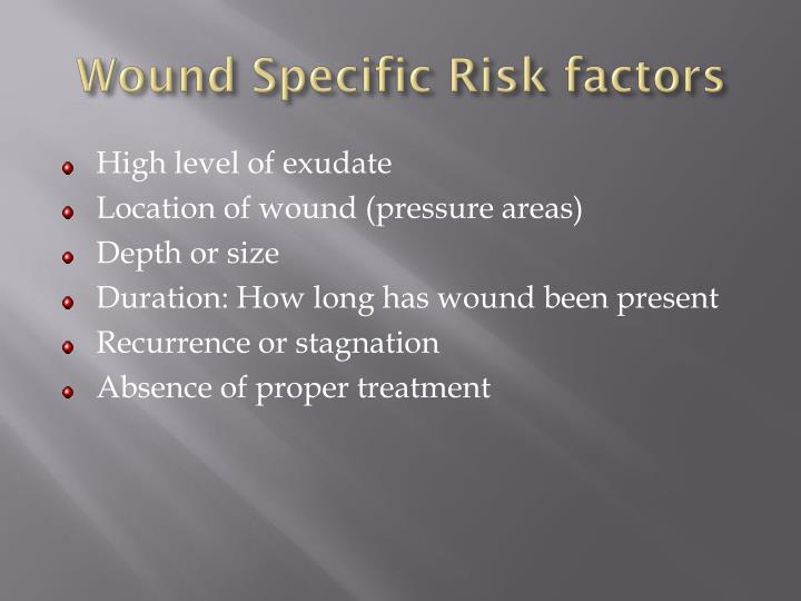 Wound Specific Risk factors