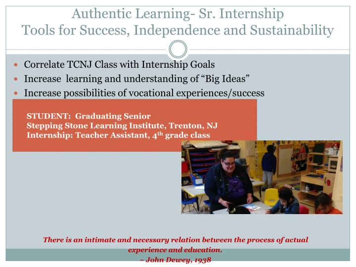 Authentic Learning- Sr.