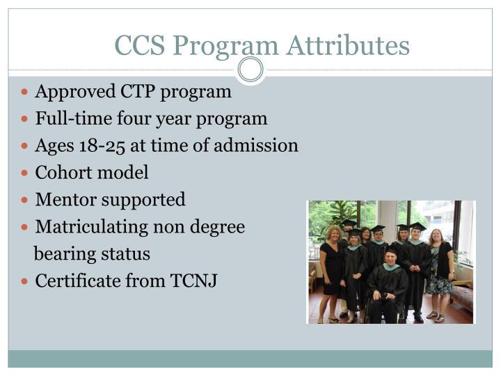 Ccs program attributes