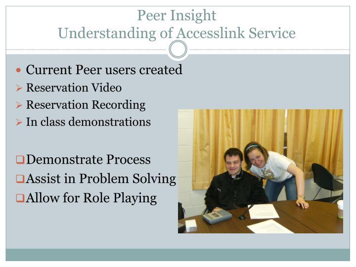 Peer Insight