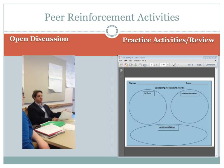 Peer Reinforcement Activities