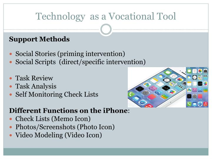 Technology  as a Vocational Tool