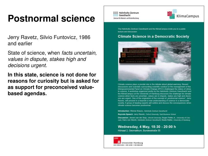 Postnormal science