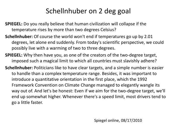 Schellnhuber on 2 deg goal