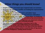 other things you should know