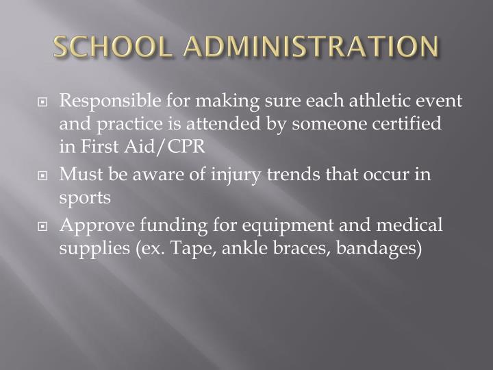 SCHOOL ADMINISTRATION
