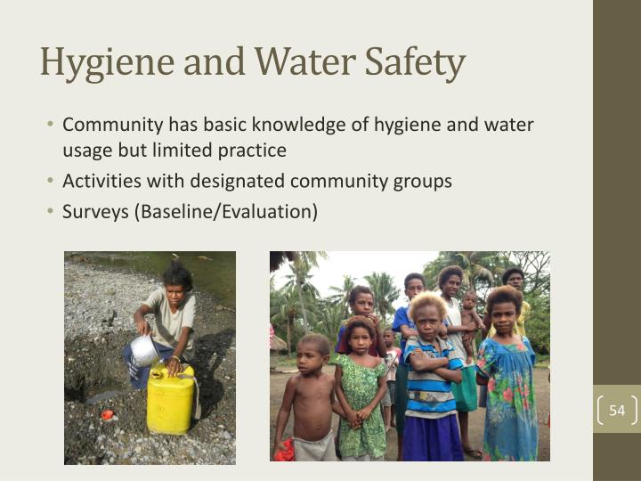 Hygiene and Water Safety