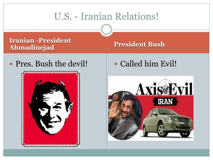 U s iranian relations