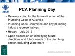pca planning day