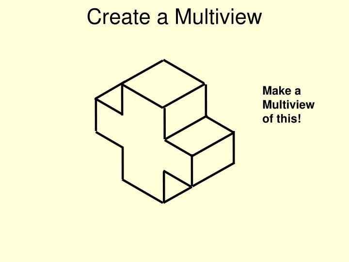 Create a Multiview