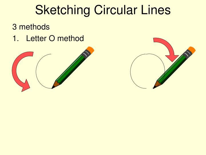 Sketching Circular Lines