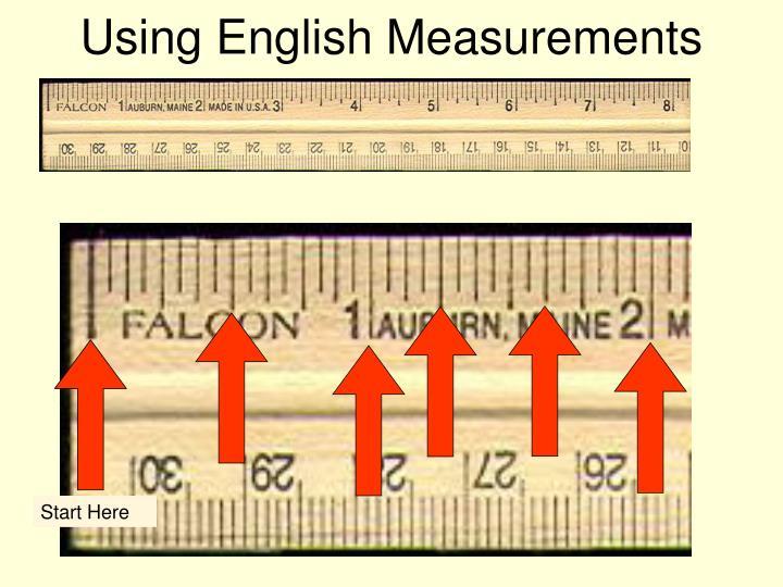 Using English Measurements