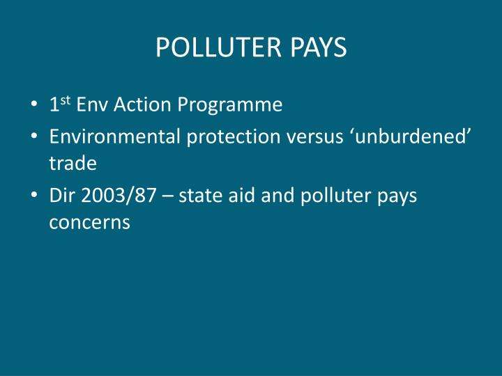 POLLUTER PAYS