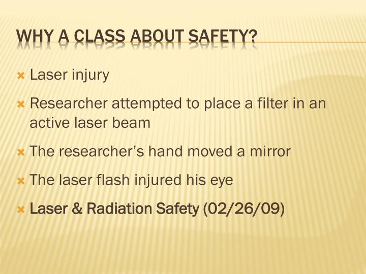 Laser injury