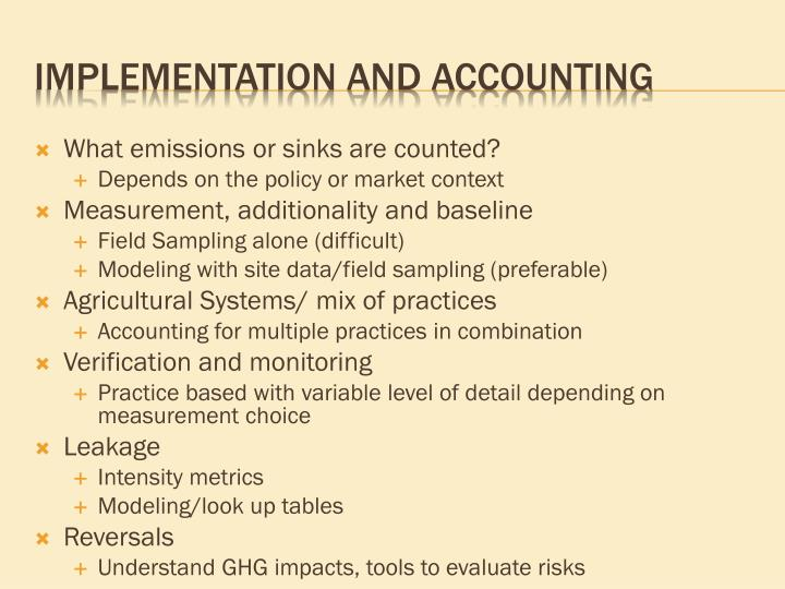 What emissions or sinks are counted?