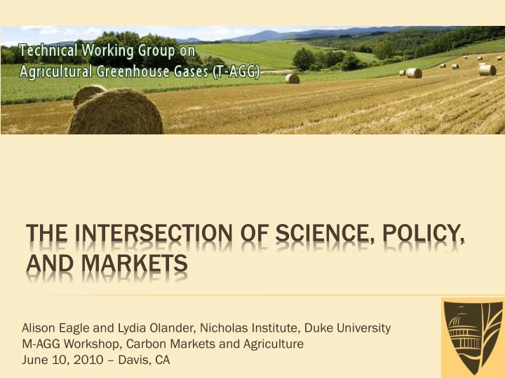 The intersection of science policy and markets