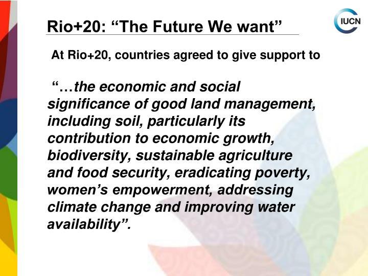 "Rio+20: ""The Future We want"""