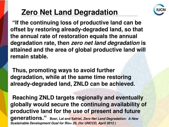 Zero Net Land Degradation