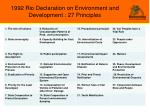 1992 rio declaration on environment and development 27 principles