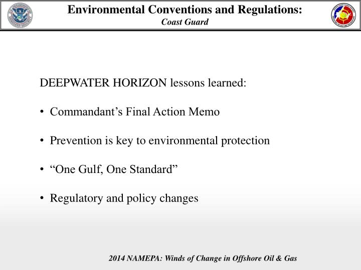 Environmental conventions and regulations coast guard1