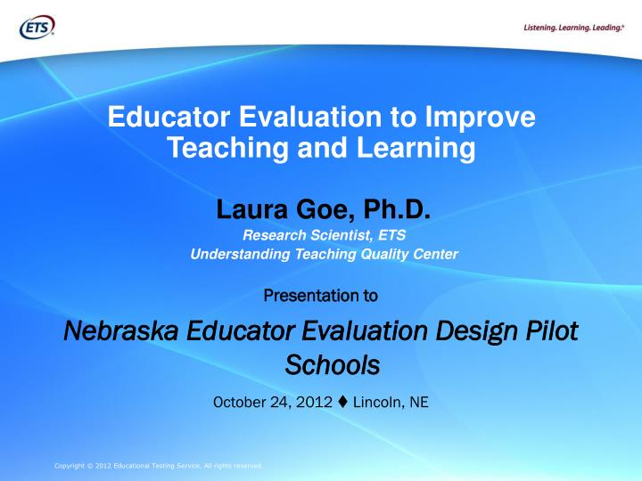 educator evaluation to improve teaching and learning n.