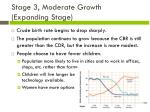 stage 3 moderate growth expanding stage1