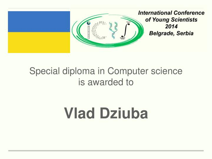 Special diploma in Computer science