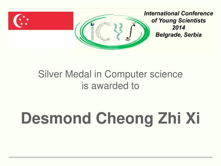 Silver Medal in Computer science