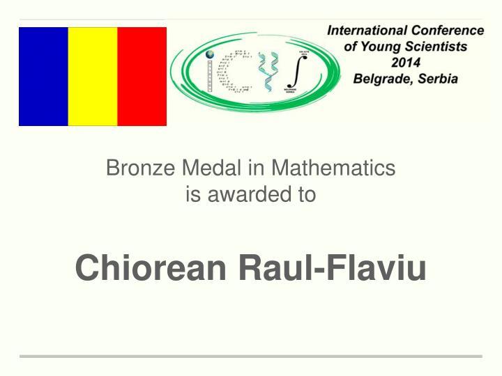Bronze Medal in Mathematics