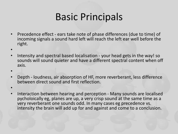 Basic principals