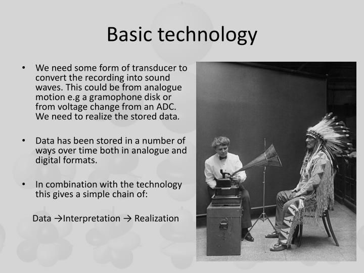 Basic technology