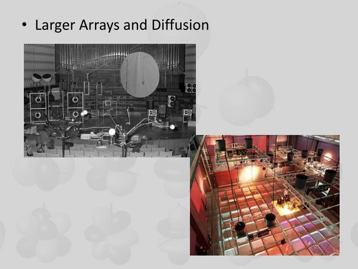 Larger Arrays and Diffusion