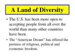 a land of diversity