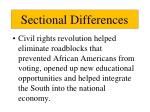 sectional differences1
