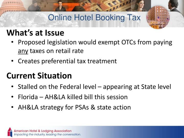 Online Hotel Booking Tax
