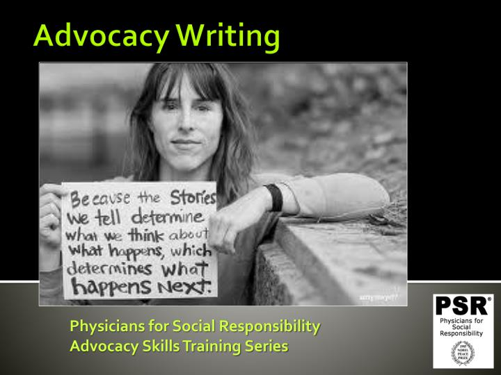 physicians for social responsibility advocacy skills training series n.