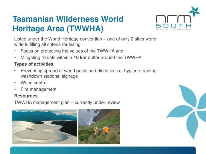 Tasmanian Wilderness World Heritage Area (TWWHA)