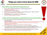 things you need to know about the ems