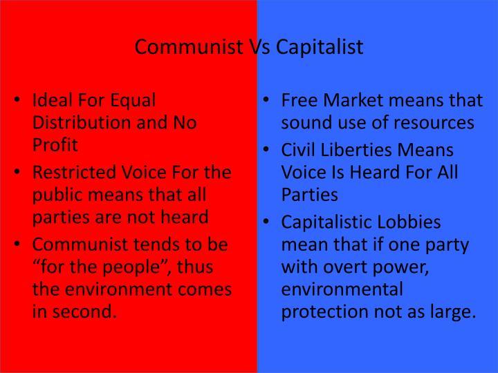 Communist Vs Capitalist